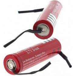 Batería Ultrafire BRC18650 de 3.7v 3.000mA Roja no protegida Pcb
