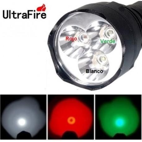 Linterna Ultrafire WF-600 Tri color