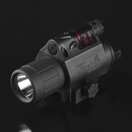Linterna ULTRAFIRE Led-Laser Rojo para armas