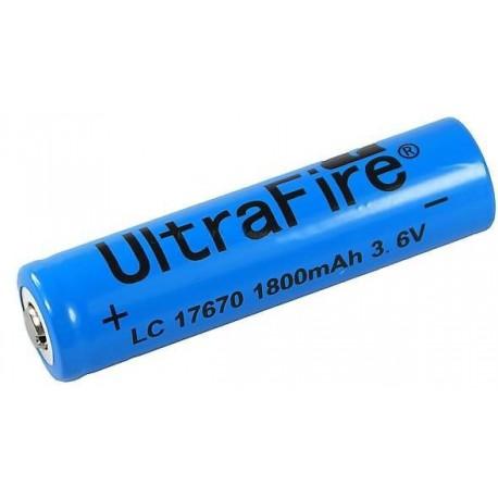 Batería Ultrafire 17670 3,6v 1800mA No protegida Azul