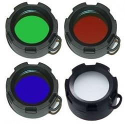 Filtros de colores 43mm para Linterna Ultrafire UF980-C8-ST3-ST4