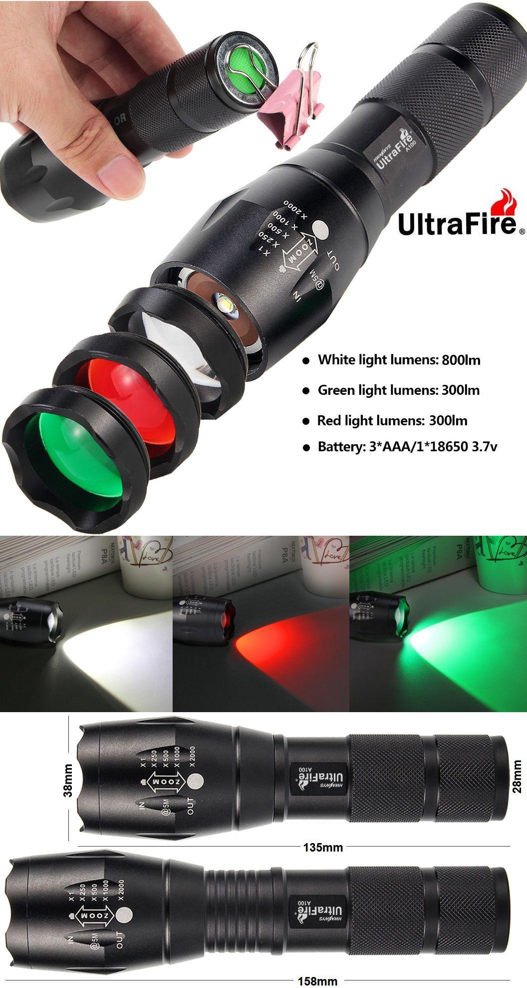 UltraFire A100 3 colores