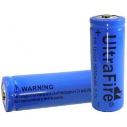 Batería de Lítio 18500 Ultrafire TR 3.7v.1600mA