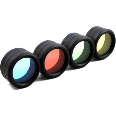 Filtros de colores 34mm para Linterna Ultrafire WF501, 502, 503, 504