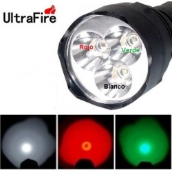 Linterna Ultrafire WF-600 Tri color