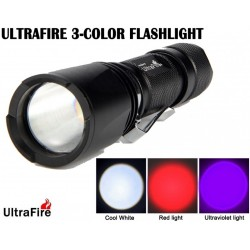 Linterna Ultrafire Zoom UF-V3 Tri Color