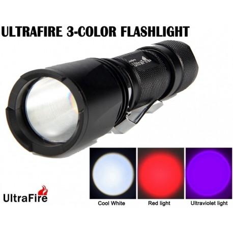 Linterna Ultrafire Zoom UF-V3 Tri Color