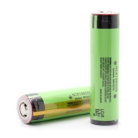 Batería Panasonic NCR18650B de 3.7v 3.400mA Roja protegida
