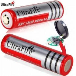 Batería de litio Recargable 18650 de 3.7v 3.000mA Roja protegida