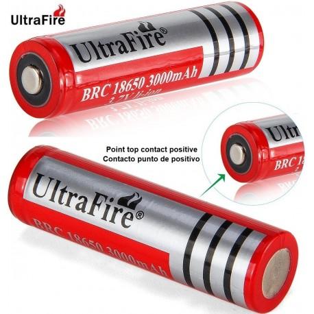 Batería Ultrafire BRC18650 de 3.7v 3.000mA