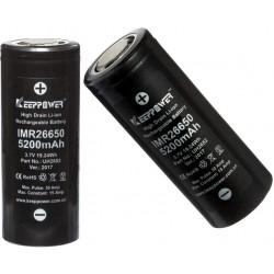 Batería de Litio 26650 3.7v 5.200mA KeepPower Recargable
