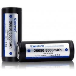 Batería de Litio 26650 3.7v 5.500mA KeepPower Recargable Protegida
