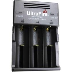 Cargador de 3 Baterías de Litio Ultrafire WF-128S3