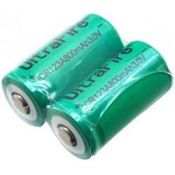 Batería de Litio 16340 Ultrafire ICR123 3.0v 800mA No Pro